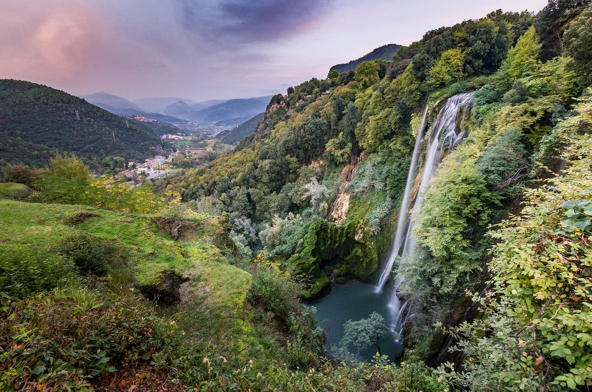 Terni Italy waterfalls