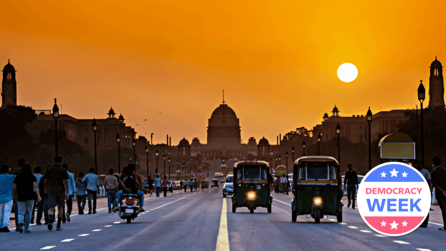 sunset view of secretariat building in new delhi india types of political systems