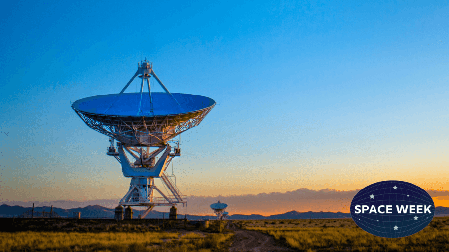 An earth-bound satellite receiver that may be used in SETI