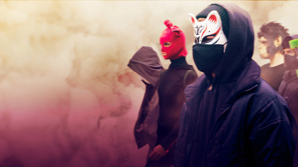 We are the wave poster - men in masks