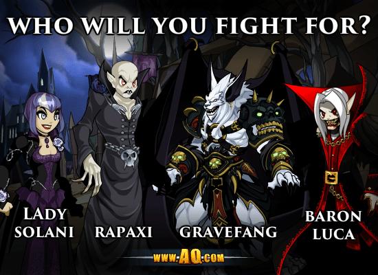 Você irá lutar ao Lado de quem? | AQWorlds Brasil
