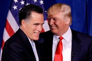 Trump endorsing Romney in 2012
