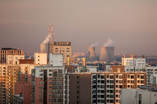 Beijing skyline with pollution