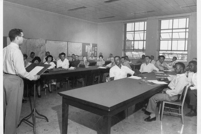 Steel workers attend workshop
