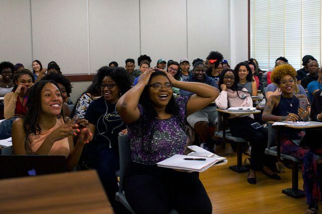 Surprised UCLA students