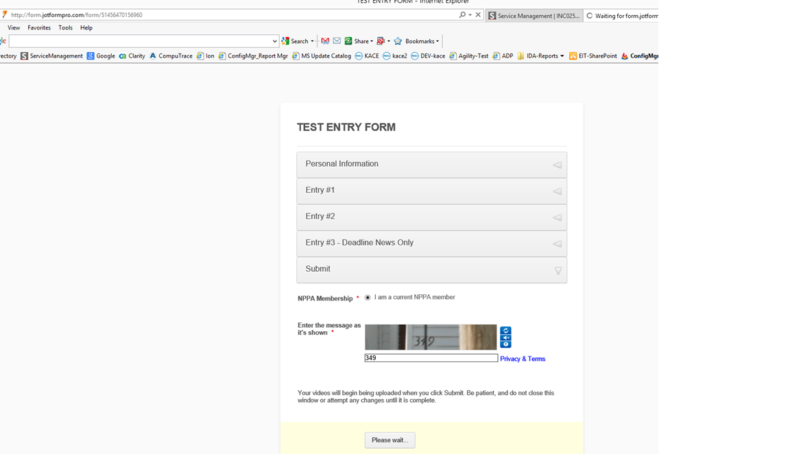 Form Id Did Not Match Error While Submitting