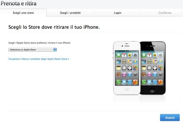 prenota e ritira iphone 4s
