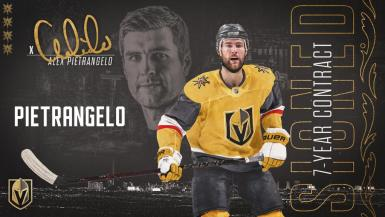Vegas Golden Knights defenseman Alex Pietrangelo