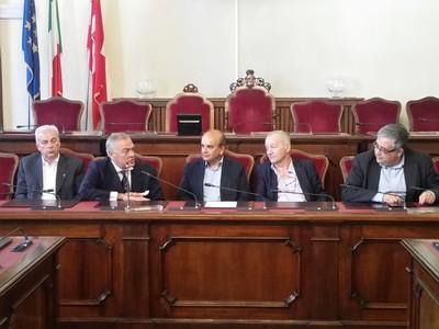 Da sinistra: Stecconi, Curioni, Dosi, Concordati e Timpano