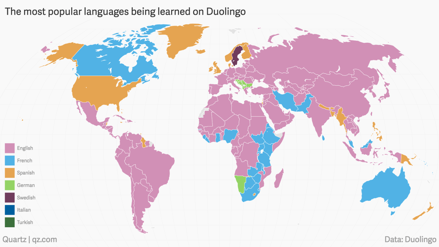 The Languages The World Is Trying To Learn According To Duolingo
