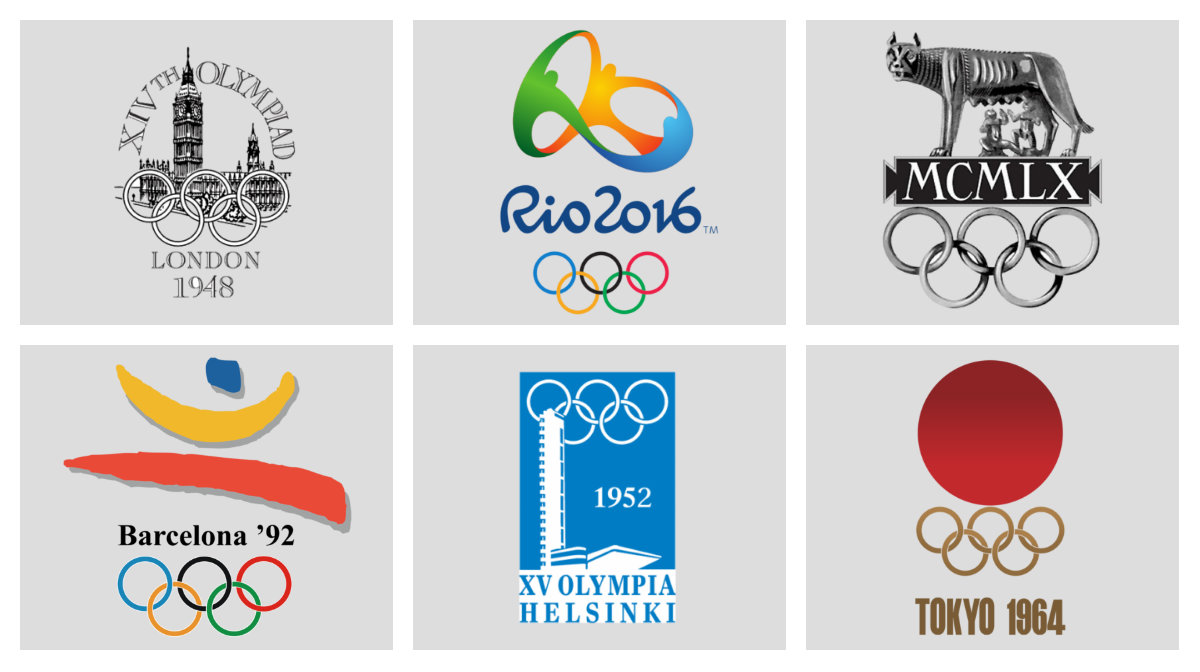 Rio 2016 The Best And Worst Olympic Logo Designs Through The Ages According To Milton Glaser Quartz