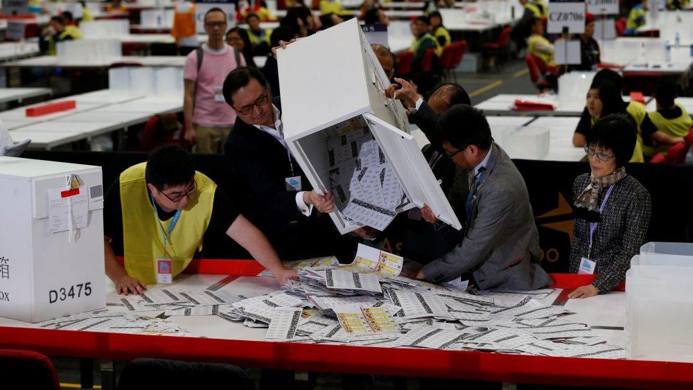 Risultati immagini per hong kong election
