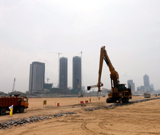 A General View Of The Colombo Port City Construction Site With The Shangri La Project In