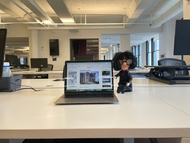 Hot desk at Quartz