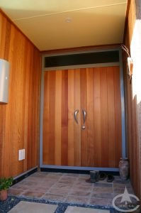 cedar door and siding