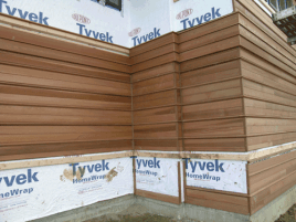 Dupont Tyvek Drainwrap with Cedar