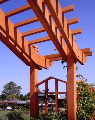 Cedar Arbor Painted Orange