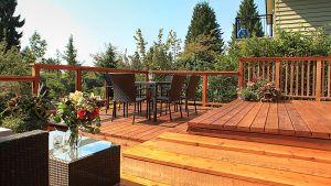 knotty cedar deck