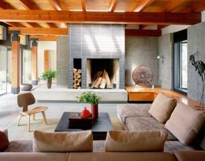 salon en bois de cedre