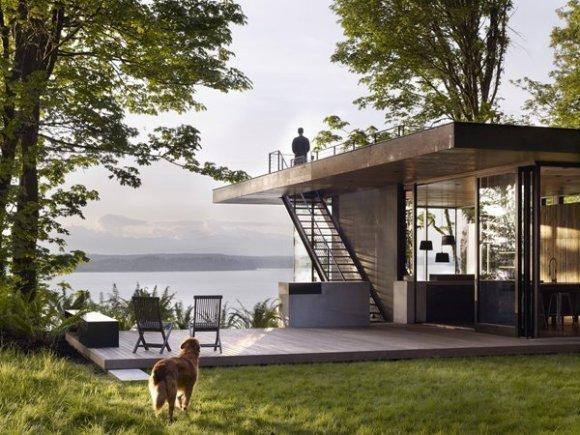 Modern Cedar House with Rooftop Deck