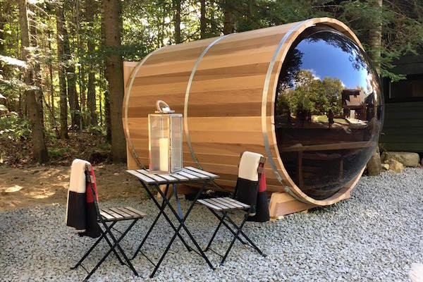 barrel cedar sauna