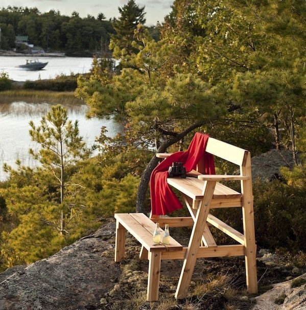 Cedar lookout bench