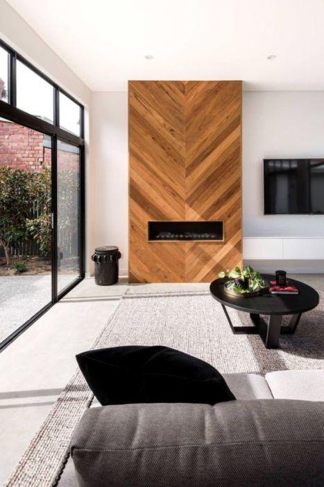 Cedar accented wall