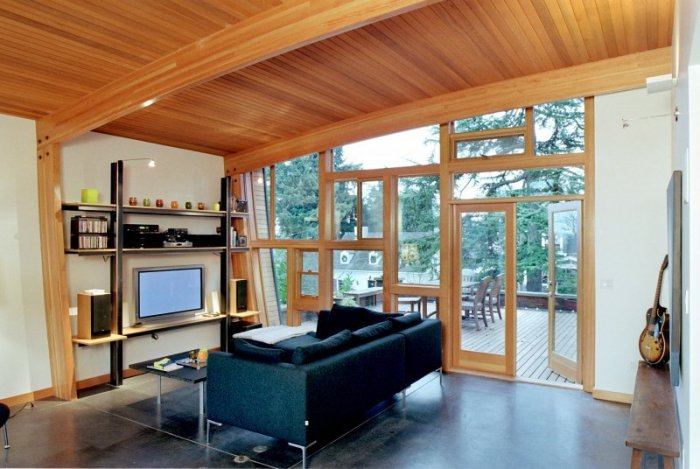 Cedar Panelling Ceiling