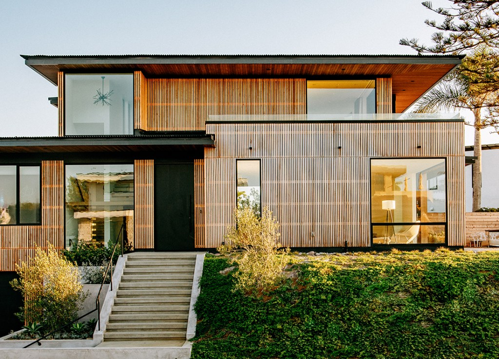 sustainable western red cedar clad home in california