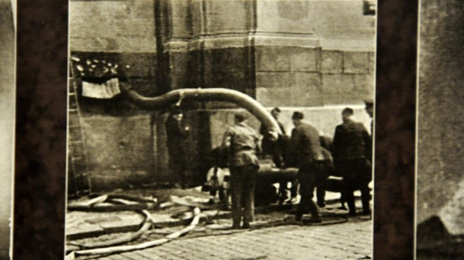 Germans Pump Water Into the Crypt in Saint Cyril's Orthodox Church