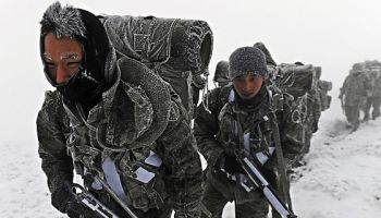 South Korea Military Winter Exercise