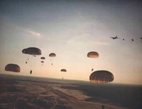 Picture taken by a Ranger during the combat jump over Grenada
