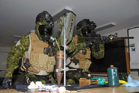 CJIRU Operators during a training in Canada. Courtesy of DND.