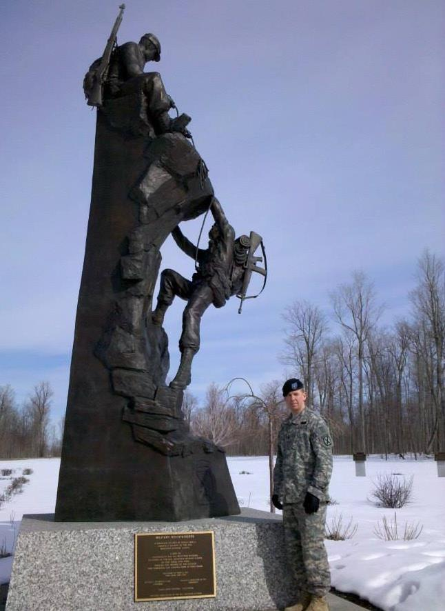 Your humble writer at the 10th Mountain Division memorial at Fort Drum, New York in  2010.