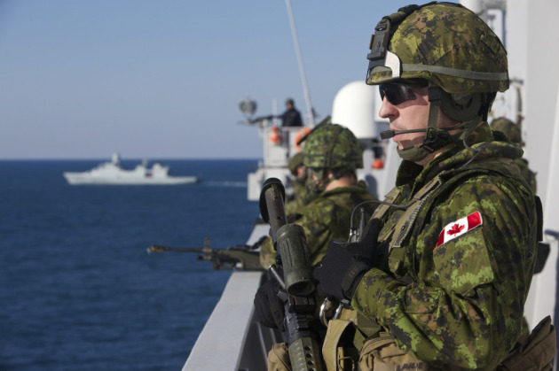 Canadian Combat Engineer Cpl Lavoie during Bold Alligator 2014.