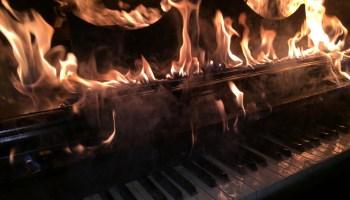 Piano Burning: A Way To Say Goodbye...