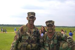 CSM Mike Hall and General McChrystal Ranger Regiment Command Team