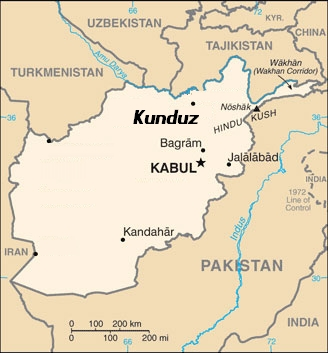 Kunduz Afghan Map