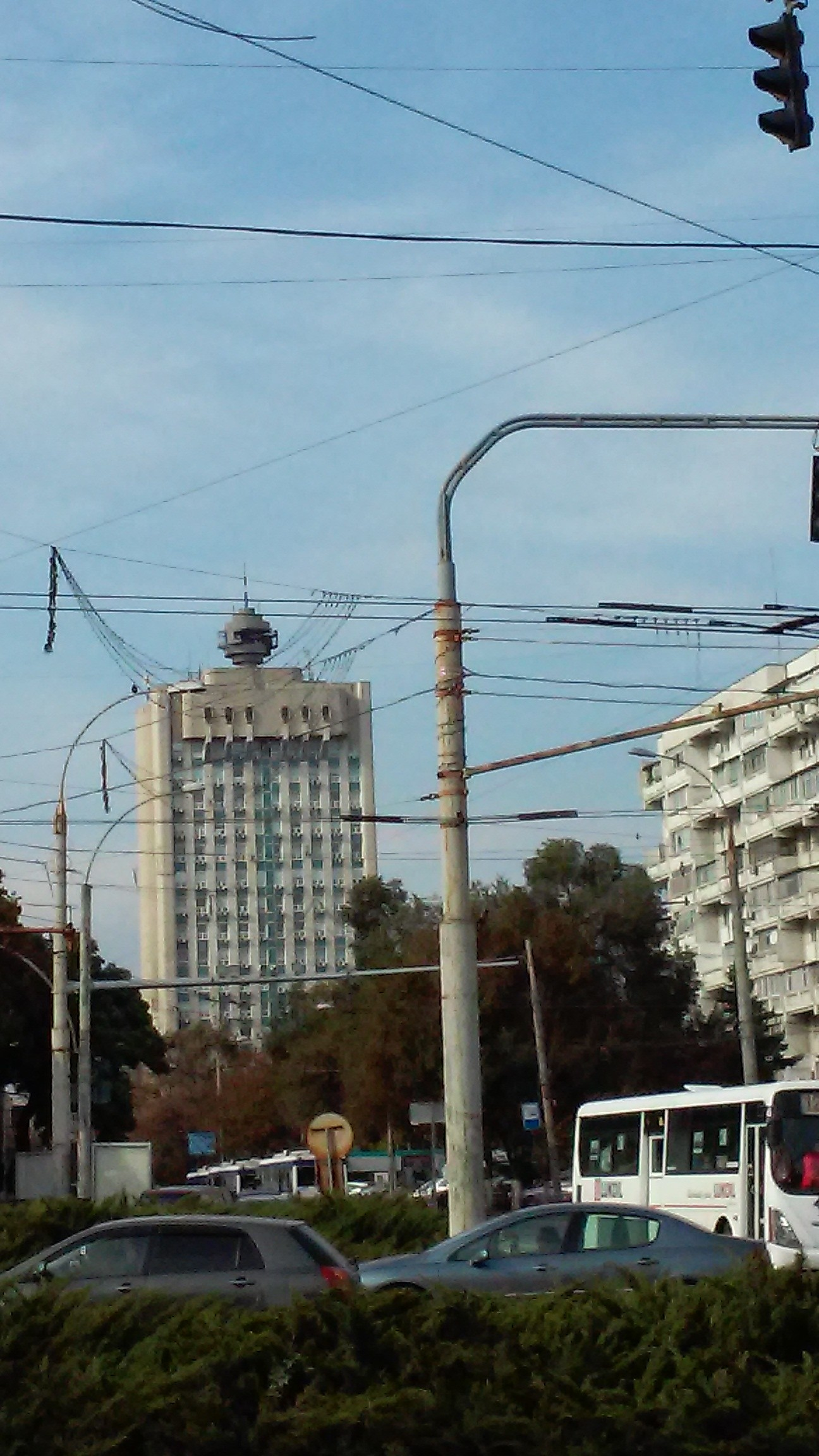 Standard Soviet building styles in Chișinău. - Image courtesy of the author.