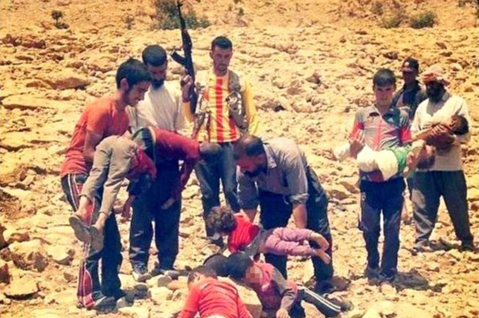 Pictures posted online of Yazidi Iaqis killed by Isis