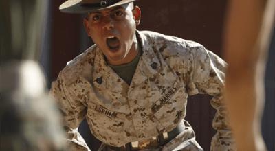 Marine Corps Drill Instructors Smoke Recruits
