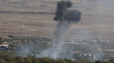 Syrian rebel fighters have close call with rocket attack