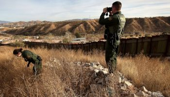U.S. border patrol agents questioning immigration laws