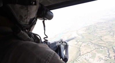 WATCH: Marine helicopter shoots down drone
