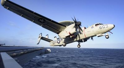 Terrifying cable snap sent Navy plane plunging off aircraft carrier