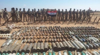 Watch: Kurdish and Iraqi Force Seize ISIS Weapons and Munitions