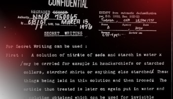 CIA: Learn how to make invisible ink, photos – from 1918