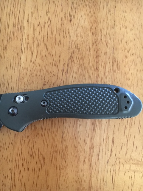 A Navy SEALs folding knife: Benchmade D2 Griptilian