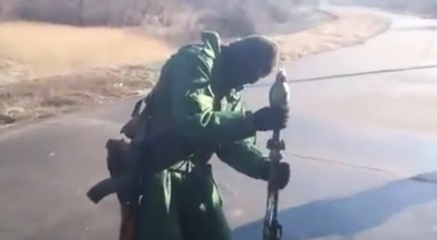 Watch: An 82mm Mortar Round Fired with an Rocket Propelled Grenade Launcher