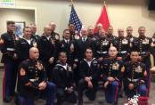 Instructors of Marine Combatant Dive Detachment at the 2014 Marine Corps Ball in Panama City Beach, FL.